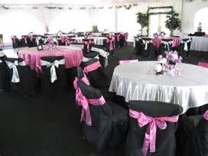 Pink and Black Table Setting Ideas