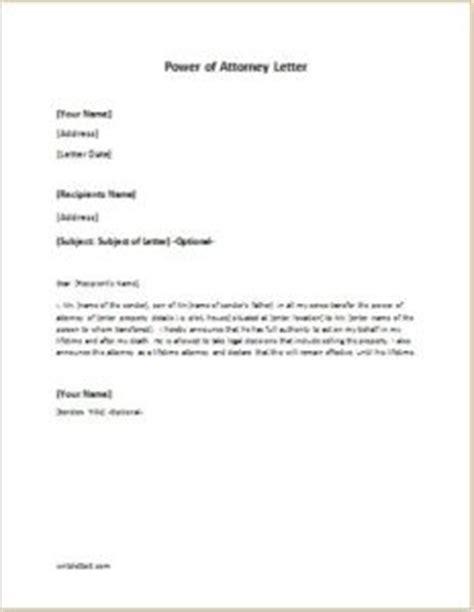 power of attorney letter power of attorney letter sle template writeletter2 9187