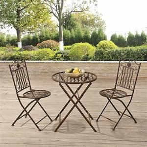 Gartenmöbel Set Ebay : casa pro garden bistro set table 2 x chair dining set furniture metal brown for sale online ebay ~ A.2002-acura-tl-radio.info Haus und Dekorationen