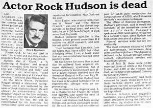Rock+Hudson+Dies   1985: Rock Hudson Dies of AIDS ...