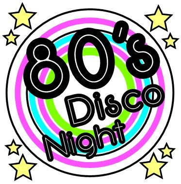 80s Disco Night Clip Art