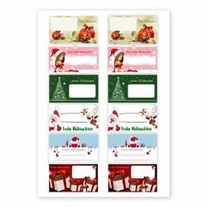 Aufkleber Zum Beschriften : 12 weihnachtsaufkleber 6 versch motiven 74x42mm aufkleber shop ~ Orissabook.com Haus und Dekorationen