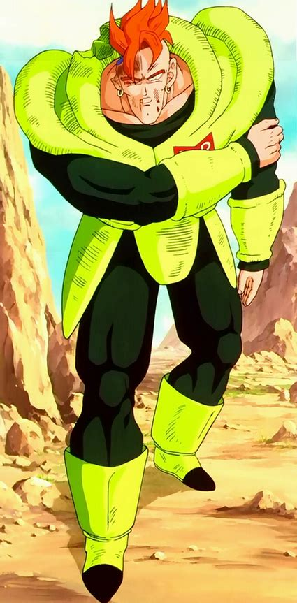Super battle, after goku defeats cell, he gives him a senzu bean and allows him to live, cell promising to return and win. Android 16 (Dragon Ball FighterZ)