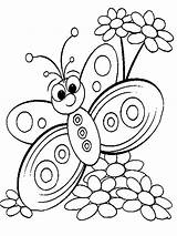 Coloring Butterfly Pages Books Flower Animal sketch template