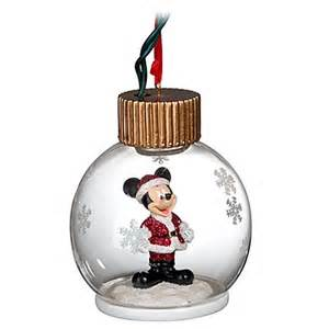 disney christmas ornament light up santa mickey mouse