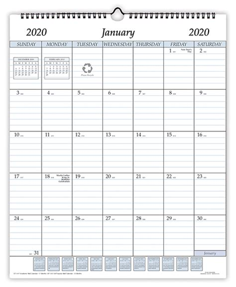 ap wire bound wall calendar inches