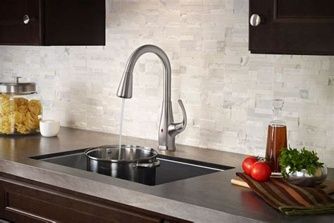 touch free kitchen faucets pfister react brings touch free faucet to your kitchen