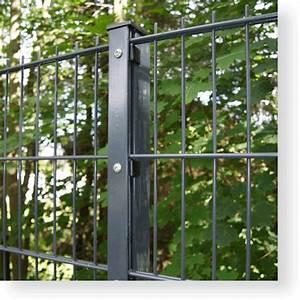 Doppelstabmattenzaun Anthrazit 8 6 8 : doppelstabmatten 8 6 8 komplett 10 m x 80 cm pfosten mit abdeckleiste ~ Buech-reservation.com Haus und Dekorationen