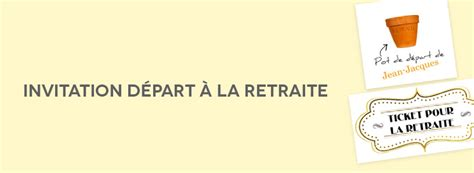 texte invitation d 233 part 224 la retraite planet cards