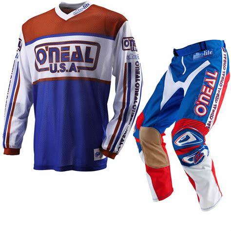 retro motocross jersey oneal 2012 ultra lite le 83 red blue retro motocross