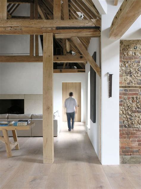 Wohnhaus In Pilar by Framed Brick Wall White And Wood Columns Trim Walls