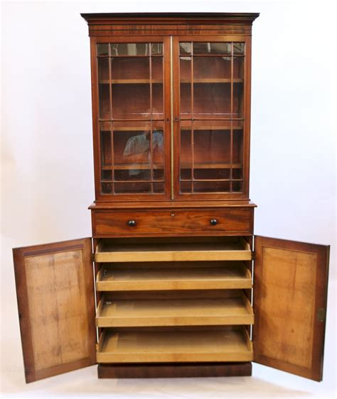 Bookcase With Cupboard Base by George 1v Mahogany 2 Door Cupboard Base Bookcase