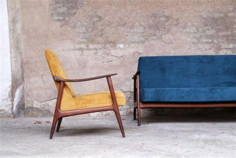 canapé scandinave vintage fauteuil style scandinave bleu