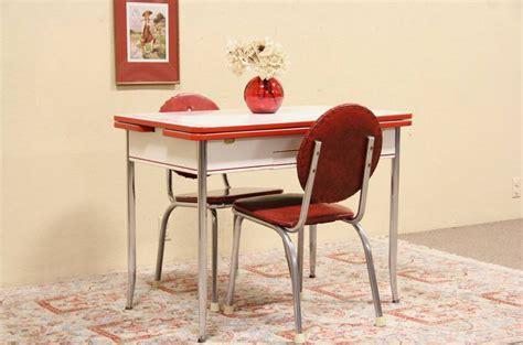 retro  enamel chrome kitchen table  chairs dinette set ebay