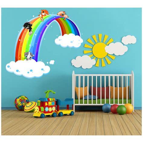 deco mural chambre bebe déco chambre arc en ciel