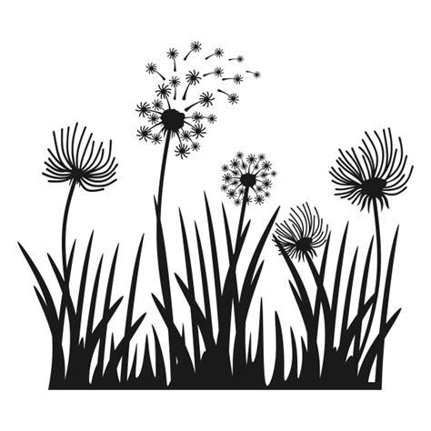 dandelion flower heart cuttable design