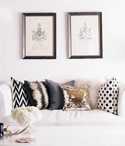 how to choose throw pillows for your couch With black white and gold decorative pillows