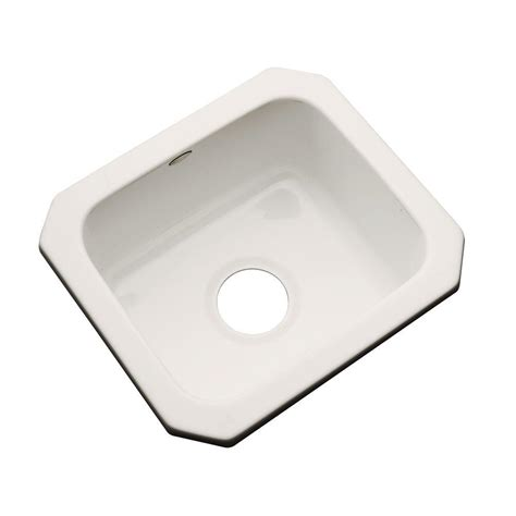 acrylic undermount kitchen sinks thermocast manchester undermount acrylic 16 in 0 3980