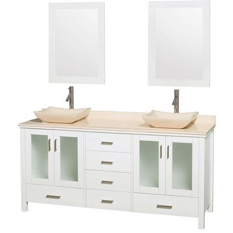 Ivory Bathroom Vanity by Wyndham Collection Wcvms1572dwhivgs2m24 72 Inch