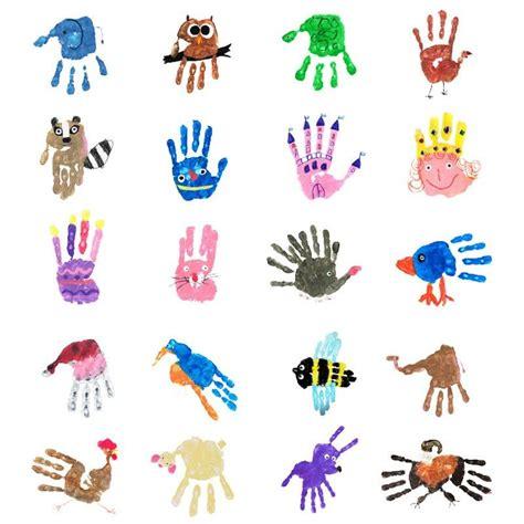 handprints  handabdruecke basteln basteln kinder