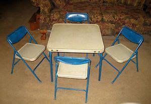 vtg 1960 s samsonite childrens folding card table 4