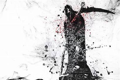 Reaper Death Grim Skull Dark Wallpapers Grunge