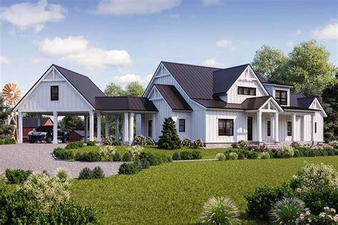 House Plans Farmhouse by Modern Farmhouse Plans Architectural Designs