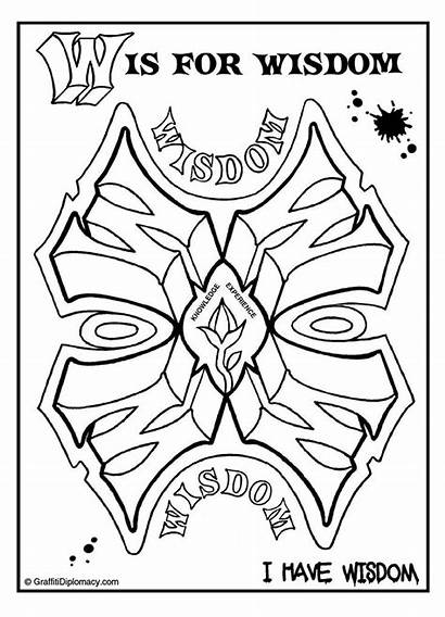 Graffiti Positive Affirmations Coloring Pages Mandalas Words