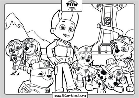 Paw Patrol Coloring Pages ABC Worksheet in 2020 Paw