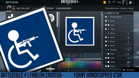 bf4 emblems creator handicapped icon funny qonkey youtube
