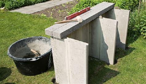 grill selber bauen stein gemauerten grill selber bauen