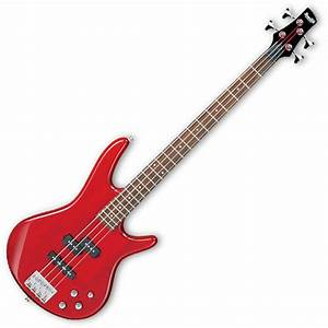 Disc Ibanez Gsr200 Gio Bass Guitar  Trans Red With Free Gig Bag At Gear4music