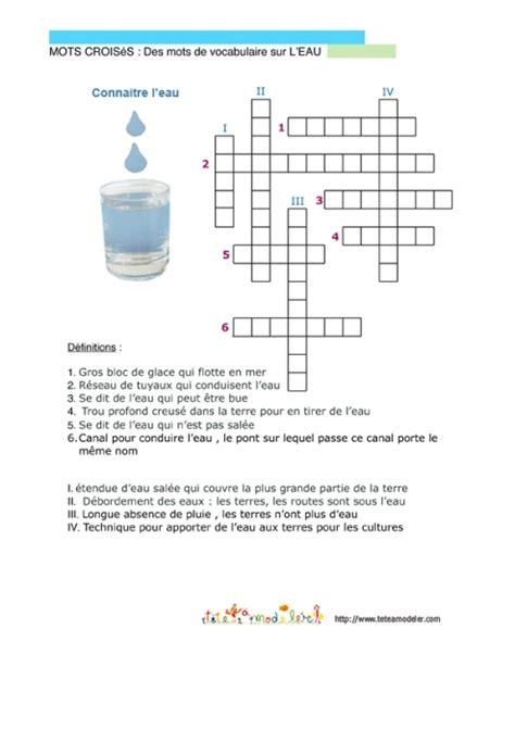 jeu de cuisine gratuit avec jeu gratuit à imprimer mots croisés connaître l 39 eau