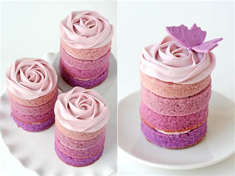 mini cake purple ombre mini cakes glorious treats