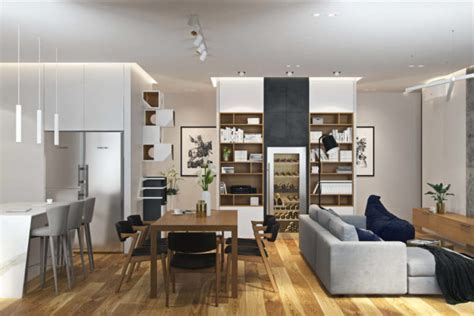 Modern Apartment With A Muted Color Palette, Marble And