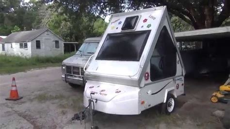 setting  aliner alite  folding motorcycle camper