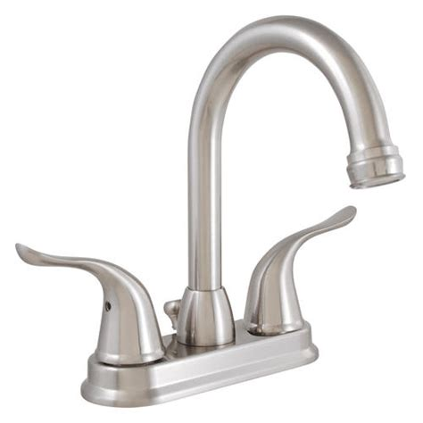 menards kitchen sink faucets plumb works hi arc two handle lavatory faucet at menards