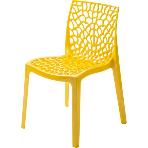 chaise de jardin en résine grafik jaune leroy merlin