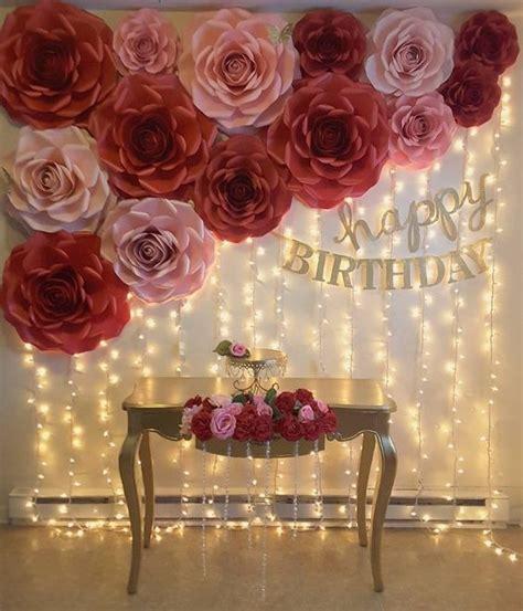 flores de papel gigantepara tus fiestasdecoraciones