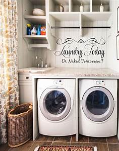 17 best ideas about laundry shelves on pinterest With kitchen colors with white cabinets with sticker machine printer
