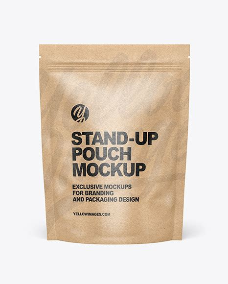 Don't forget to share with your friends! Kraft Paper Stand-up Pouch Mockup in Pouch Mockups on ...