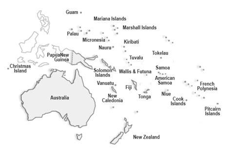 Información e imágenes con mapas de Oceanía y paises