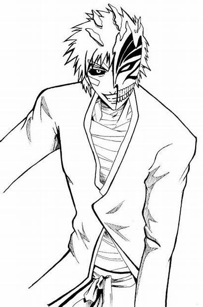 Coloring Pages Bleach Ichigo Hollow Printable Kurosaki