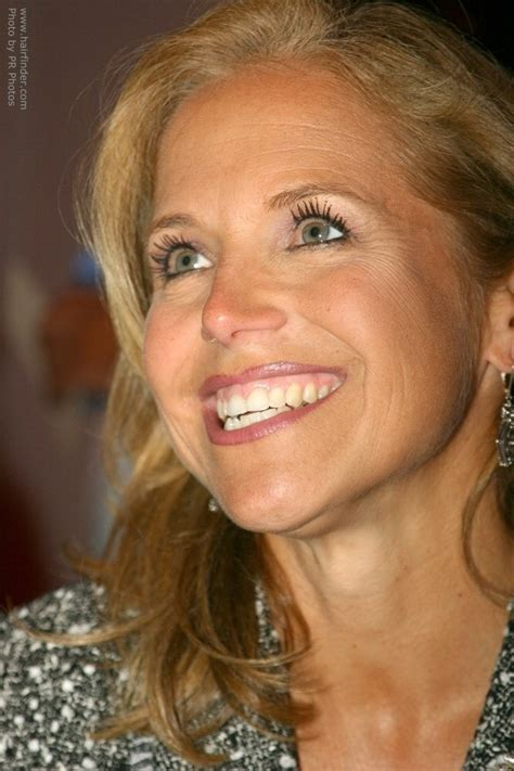 katie couric  long hair styled