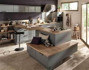 charmant modele de cuisine avec ilot central et modele With modele cuisine avec ilot central table