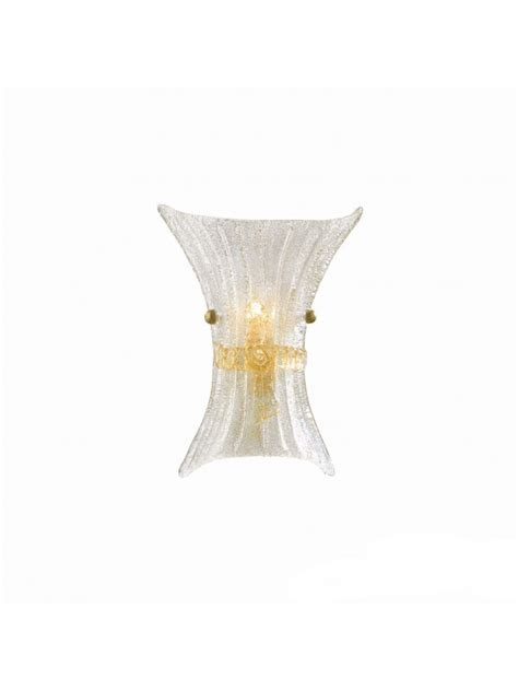 applique in vetro applique classico in vetro murano 1 luce fiocco small