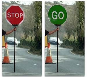 Stop And Go : stop go fold up lollipop sign inc bag direct signs ~ Medecine-chirurgie-esthetiques.com Avis de Voitures