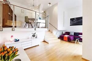Modern Norwegian Interior Design for Two Level Apartment