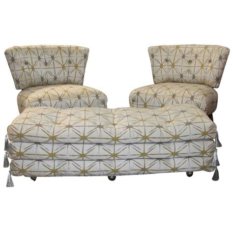 pair of kroehler chairs and matching ottoman at 1stdibs