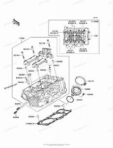 Kawasaki Motorcycle 2007 Oem Parts Diagram For Cylinder